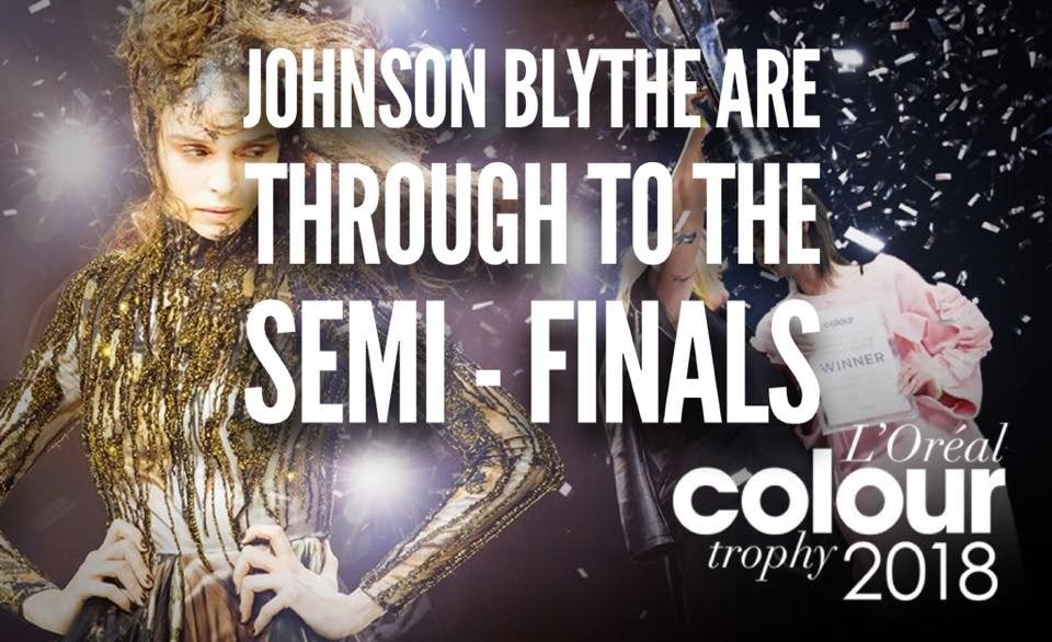 Johnson Blythe hairdressing Loreal colour trophy semi finalists