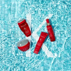 protect yoru hair when swimming with Kerastase at Johnson Blythe hairdressing Hertford Copy