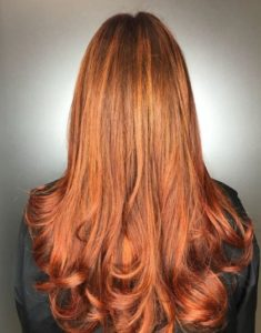 Fiery Red Hair Colour at Johnson Blythe Hair Salon in Hertford