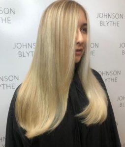 Pearly Golden Blonde Hair Colour at Johnson Blythe Hair Salon in Hertford